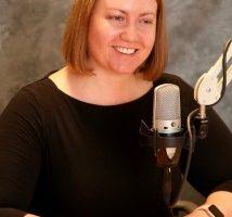 Ellyn Riley being interviewed on radio